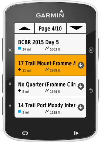 Trailforks Garmin Connect IQ App