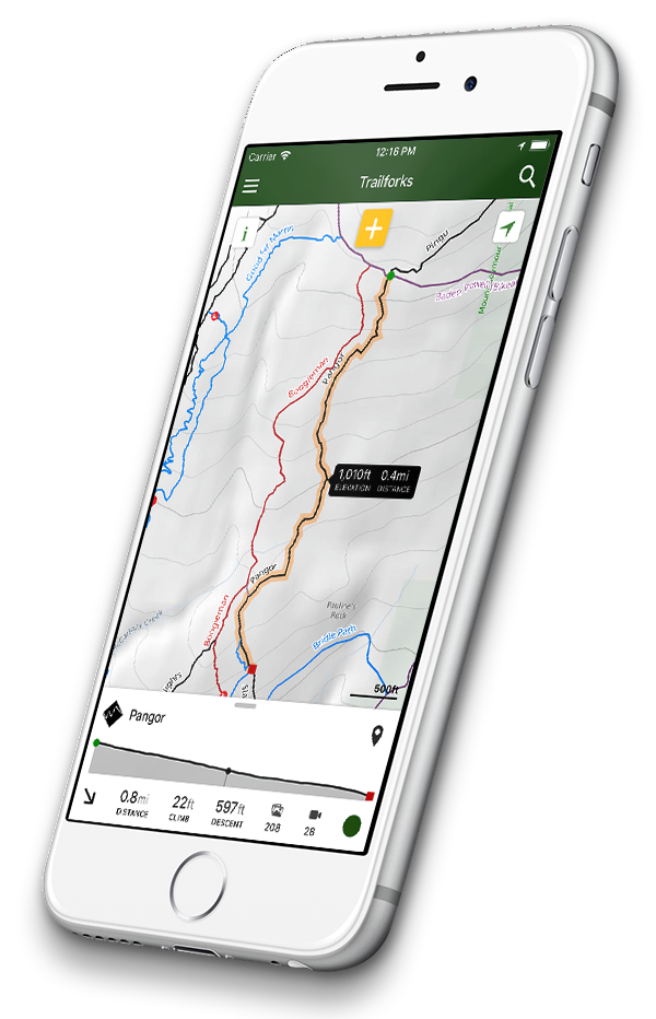 Trailforks app on iPhone 8